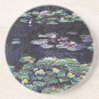 Porta-copos De Arenito Lírios de água por Claude Monet