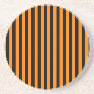 Porta-copos De Arenito Listras finas - preto e laranja