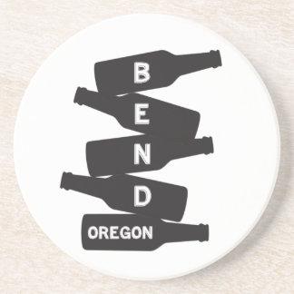 Porta-copos De Arenito Logotipo da pilha da garrafa de cerveja de Oregon