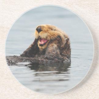 Porta-copos De Arenito Lontra de mar do Alasca