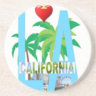 Porta-copos De Arenito Los Angeles l uma cidade EUA América de Califórnia