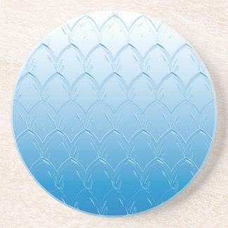 Porta-copos De Arenito Luz às escalas azuis escuro