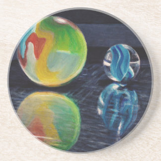 Porta-copos De Arenito Luz de mármore