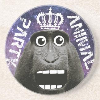 Porta-copos De Arenito Macaco Excited do animal de partido