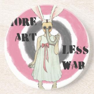 Porta-copos De Arenito Mais arte menos guerra