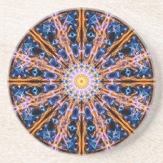 Porta-copos De Arenito Mandala da estrela da alquimia