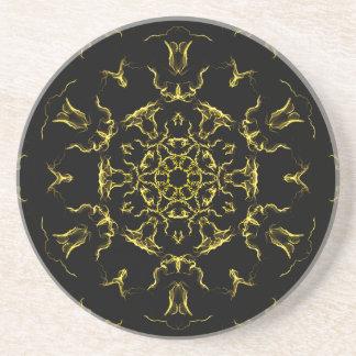 Porta-copos De Arenito Mandala da iluminação