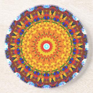Porta-copos De Arenito Mandala da luz do sol