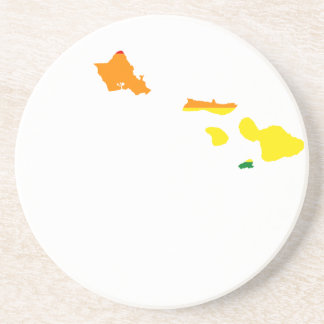 Porta-copos De Arenito Mapa da bandeira de Havaí LGBT
