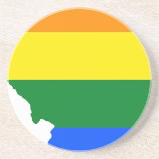 Porta-copos De Arenito Mapa da bandeira de Illinois LGBT