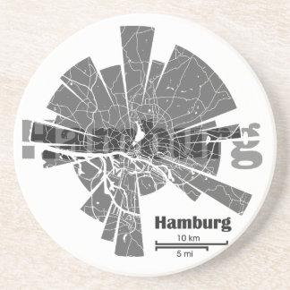 Porta-copos De Arenito Mapa de Hamburgo