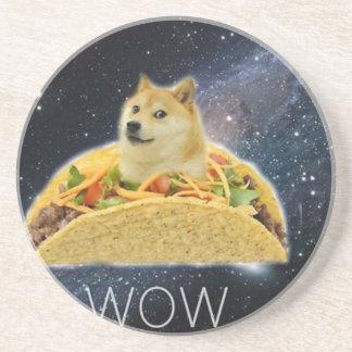Porta-copos De Arenito meme do taco do espaço do doge