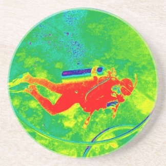 Porta-copos De Arenito Mergulhador de mergulhador de Havaí