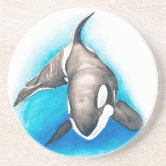 Porta-copos De Arenito Mergulho profundo da orca