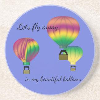 Porta-copos De Arenito Meu balão bonito