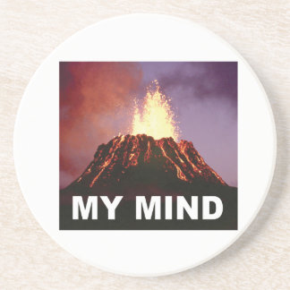 Porta-copos De Arenito minha mente do vulcão