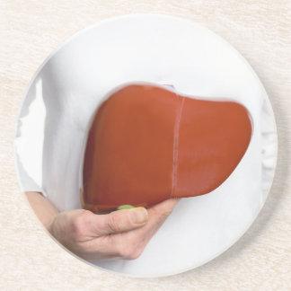 Porta-copos De Arenito Mulher que guardara o modelo humano do fígado no
