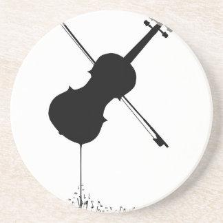 Porta-copos De Arenito Música de fluxo do violino