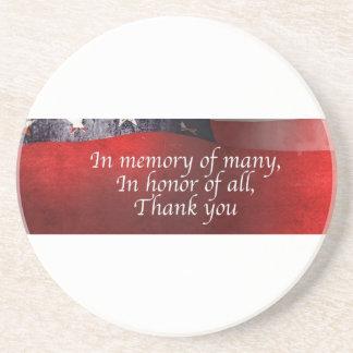 Porta-copos De Arenito Na memória de muitos em honra de todo o obrigado