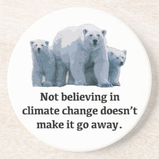 Porta-copos De Arenito Não acreditando nas alterações climáticas