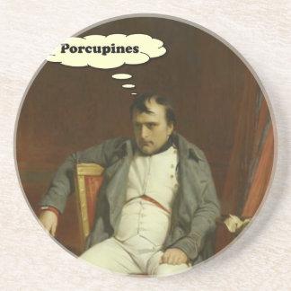 Porta-copos De Arenito Napoleon pensa sobre porcos-