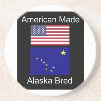 """Porta-copos De Arenito """"Nascer americano. Alaska produziu"""" bandeiras e"""