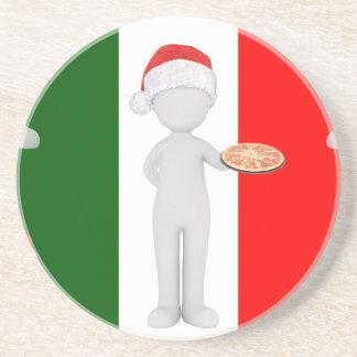 Porta-copos De Arenito Natal italiano