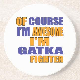 Porta-copos De Arenito Naturalmente eu sou lutador de Gatka