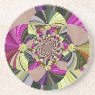 Porta-copos De Arenito O abstrato floresce o teste padrão floral