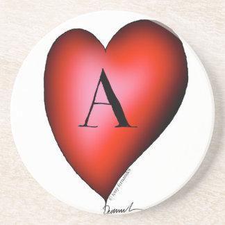 Porta-copos De Arenito O ás de corações por Tony Fernandes
