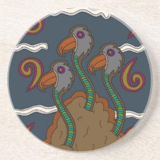 Porta-copos De Arenito O Birdworms