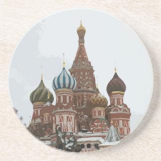 Porta-copos De Arenito O cathedral_russo da manjericão do santo