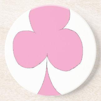 Porta-copos De Arenito o clube cor-de-rosa