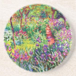 Porta-copos De Arenito O jardim da íris em Giverny por Claude Monet