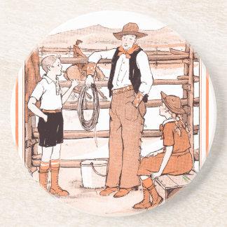 Porta-copos De Arenito O livro de criança do vintage - falando ao