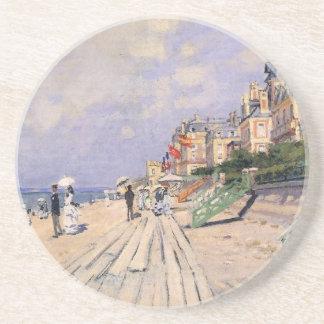 Porta-copos De Arenito O passeio à beira mar em Trouville Claude Monet