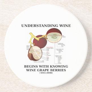 Porta-copos De Arenito O vinho compreensivo começa com o conhecimento da