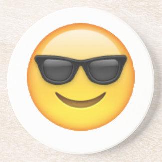 Porta-copos De Arenito Óculos de sol - Emoji