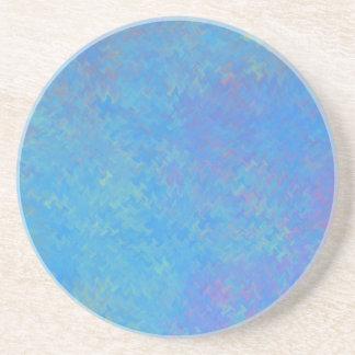 Porta-copos De Arenito Olhar bonito do papel marmoreado do azul