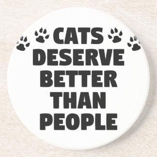 Porta-copos De Arenito Os gatos merecem melhor