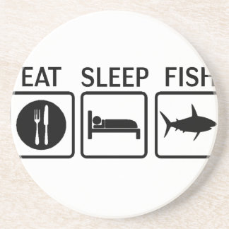 Porta-copos De Arenito os peixes comem o sono