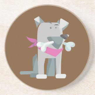 Porta-copos De Arenito Osso de cão de Hund Knochen