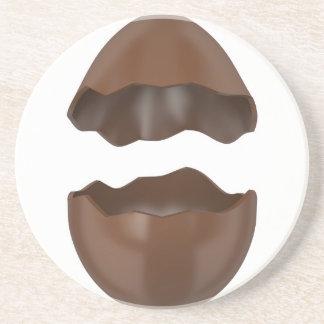 Porta-copos De Arenito Ovo de chocolate quebrado