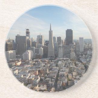 Porta-copos De Arenito Panorama da skyline de San Francisco