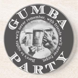 Porta-copos De Arenito Partido de Gumba - logotipo preto
