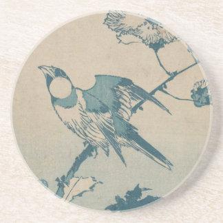 Porta-copos De Arenito Pássaro azul