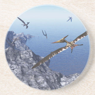 Porta-copos De Arenito Pássaros de Pteranodon - 3D rendem