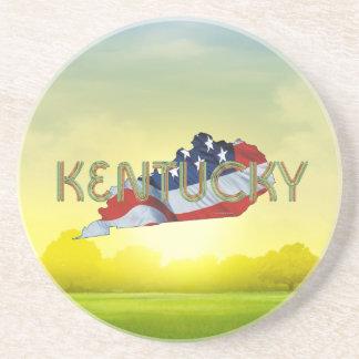 Porta-copos De Arenito Patriota de Kentucky do T