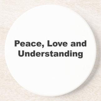 Porta-copos De Arenito Paz, amor e compreensão