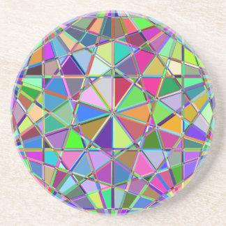 Porta-copos De Arenito Pedra de gema tirada Kaleidescope colorida